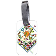 Vector Icon Symbol Sign Design Luggage Tags (two Sides)