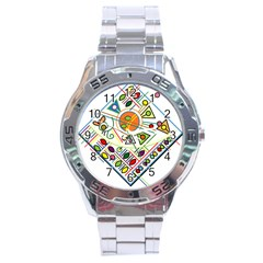 Vector Icon Symbol Sign Design Stainless Steel Analogue Watch
