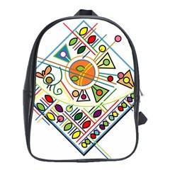 Vector Icon Symbol Sign Design School Bags (XL)