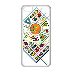 Vector Icon Symbol Sign Design Apple Iphone 5c Seamless Case (white)