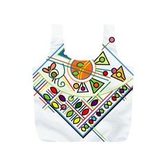 Vector Icon Symbol Sign Design Full Print Recycle Bags (s)