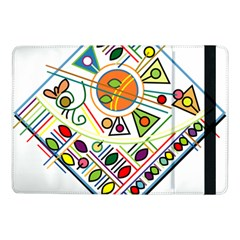 Vector Icon Symbol Sign Design Samsung Galaxy Tab Pro 10 1  Flip Case