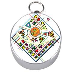 Vector Icon Symbol Sign Design Silver Compasses