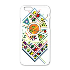 Vector Icon Symbol Sign Design Apple Iphone 6/6s White Enamel Case