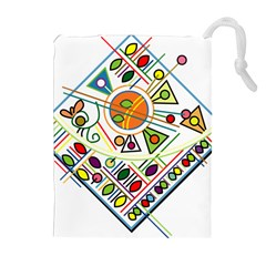 Vector Icon Symbol Sign Design Drawstring Pouches (extra Large)
