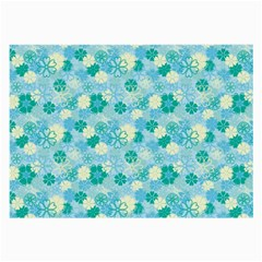 Blue Floral Flower Large Glasses Cloth