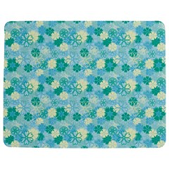Blue Floral Flower Jigsaw Puzzle Photo Stand (Rectangular)