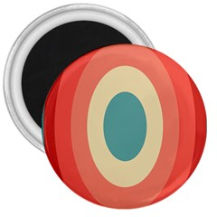 Circles Colorful Bull s Eye 3  Magnets