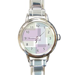 Abstract Background Pattern Design Round Italian Charm Watch
