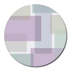 Abstract Background Pattern Design Round Mousepads