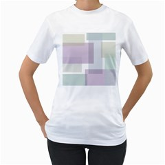 Abstract Background Pattern Design Women s T Shirt (white) (two Sided)