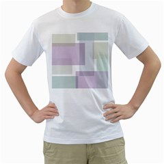 Abstract Background Pattern Design Men s T Shirt (white) (two Sided)