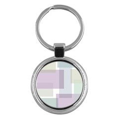 Abstract Background Pattern Design Key Chains (Round)