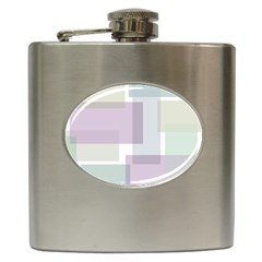 Abstract Background Pattern Design Hip Flask (6 Oz)