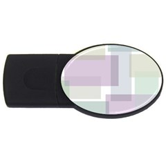Abstract Background Pattern Design Usb Flash Drive Oval (2 Gb)