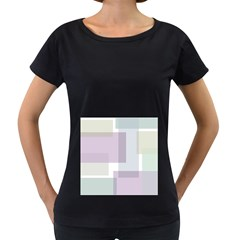 Abstract Background Pattern Design Women s Loose Fit T Shirt (black)