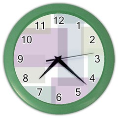 Abstract Background Pattern Design Color Wall Clocks