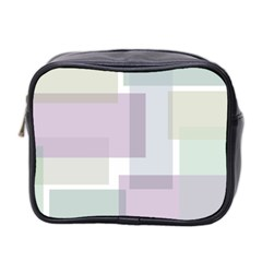 Abstract Background Pattern Design Mini Toiletries Bag 2 Side