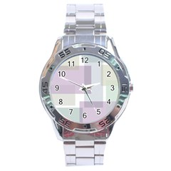 Abstract Background Pattern Design Stainless Steel Analogue Watch