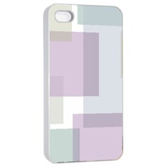 Abstract Background Pattern Design Apple Iphone 4/4s Seamless Case (white)