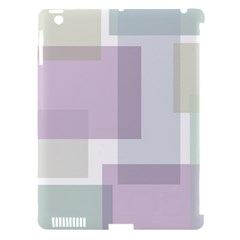 Abstract Background Pattern Design Apple Ipad 3/4 Hardshell Case (compatible With Smart Cover)