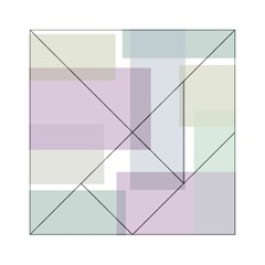 Abstract Background Pattern Design Acrylic Tangram Puzzle (6  X 6 )
