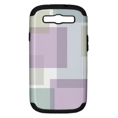 Abstract Background Pattern Design Samsung Galaxy S Iii Hardshell Case (pc+silicone)