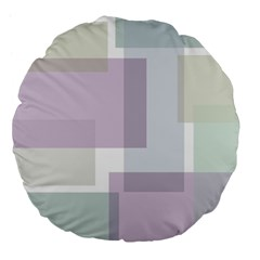 Abstract Background Pattern Design Large 18  Premium Flano Round Cushions
