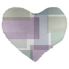 Abstract Background Pattern Design Large 19  Premium Flano Heart Shape Cushions