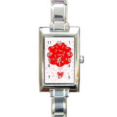 Abstract Background Balloon Rectangle Italian Charm Watch