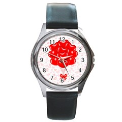 Abstract Background Balloon Round Metal Watch