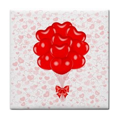 Abstract Background Balloon Tile Coasters