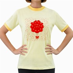 Abstract Background Balloon Women s Fitted Ringer T Shirts