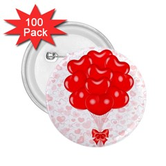 Abstract Background Balloon 2 25  Buttons (100 Pack)