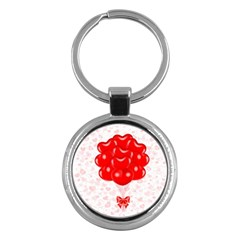 Abstract Background Balloon Key Chains (round)