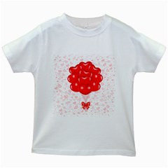 Abstract Background Balloon Kids White T-Shirts