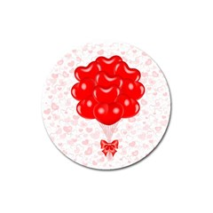Abstract Background Balloon Magnet 3  (round)