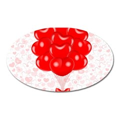 Abstract Background Balloon Oval Magnet