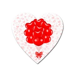 Abstract Background Balloon Heart Magnet