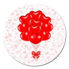 Abstract Background Balloon Magnet 5  (round)