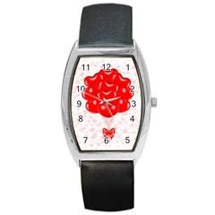 Abstract Background Balloon Barrel Style Metal Watch