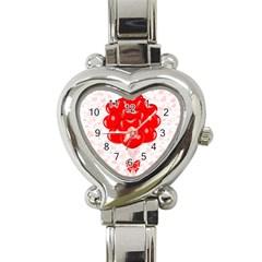 Abstract Background Balloon Heart Italian Charm Watch