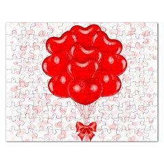 Abstract Background Balloon Rectangular Jigsaw Puzzl