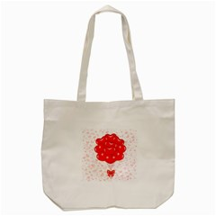Abstract Background Balloon Tote Bag (cream)