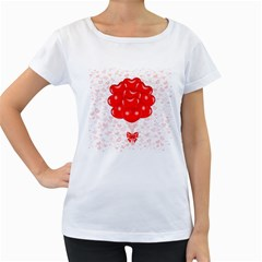 Abstract Background Balloon Women s Loose Fit T Shirt (white)
