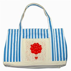 Abstract Background Balloon Striped Blue Tote Bag