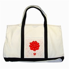 Abstract Background Balloon Two Tone Tote Bag