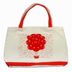 Abstract Background Balloon Classic Tote Bag (red)