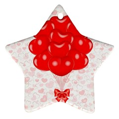 Abstract Background Balloon Star Ornament (Two Sides)