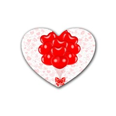 Abstract Background Balloon Heart Coaster (4 Pack)